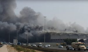 Major Fire Engulfs Jeddah Haramain Station