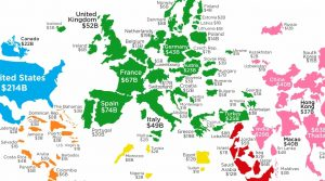 Mapped: Top Countries by Tourist Spending