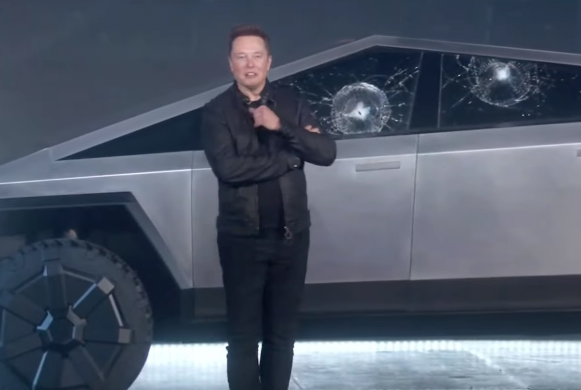 Breaking: Tesla Flunks Armoured Glass Test during Live Launch