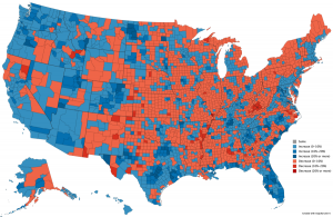 Growth and Decline: Visualizing U.S. Population Change by County (2010-18)