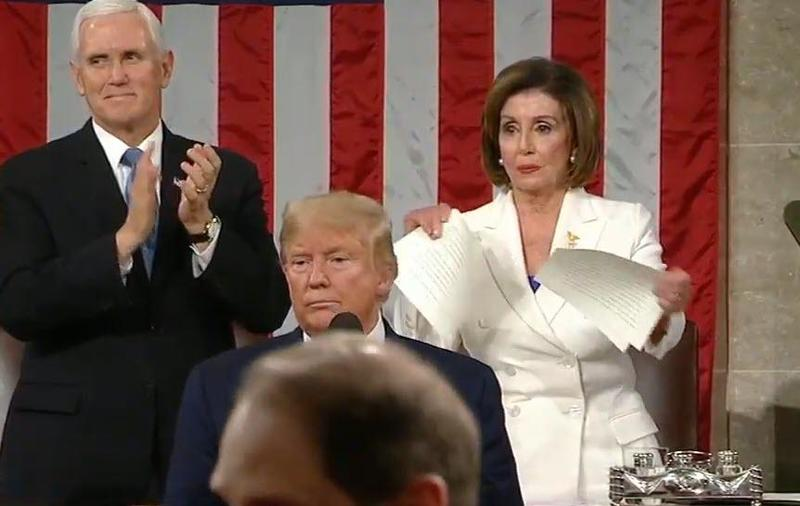 When Pelosi Ripped Trump's Speech in Half, Was It a Harbinger of What Is about to Happen to America during this Election?