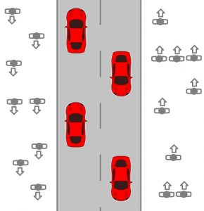 Aid Social Distancing by Walking opposite Oncoming Traffic: Policy Proposal