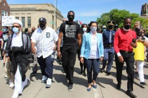 Elizabeth Johnston: Governor Gretchen Whitmer Appears to Violate Her Own Lockdown Orders to March with Protesters